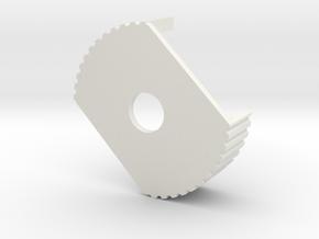 MM510 Large Nut lock in White Natural Versatile Plastic