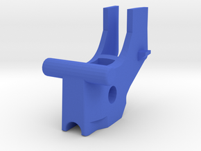 Breech block for Ultimaker M2 Direct drive head in Blue Processed Versatile Plastic