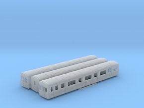 N Gauge D78 Underground Kit 3 Car bodies only in Smooth Fine Detail Plastic
