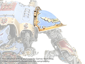Iron Wolf - Left Shoulder Pad in Smooth Fine Detail Plastic