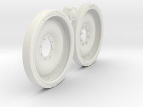 1/6 M113 APC 24x3 Road Wheel Set001 in White Natural Versatile Plastic