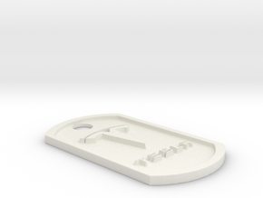 Tesla Themed Dog Tag in White Premium Strong & Flexible