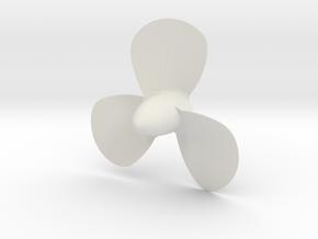 Titanic 3 Bladed Centre Propeller - Scale 1:87 in White Natural Versatile Plastic
