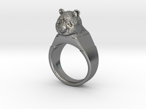 Ring Panda in Polished Silver