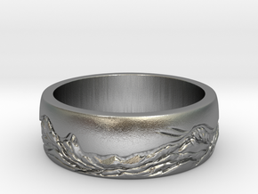 mountain ring in Natural Silver