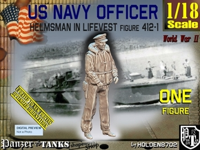 1/18 USN Officer Helmsman 412-1 in White Natural Versatile Plastic