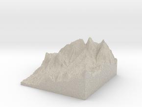 Model of Cheshmeh-ye Damīrchī-ye Qīyehsī Cheshmehs in Natural Sandstone