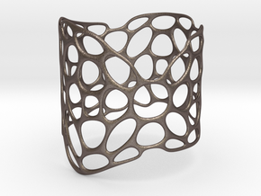LATTICE_bracelet-0423 in Polished Bronzed Silver Steel