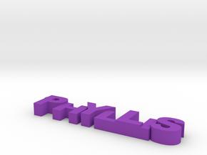 Phyllis keychain in Purple Processed Versatile Plastic