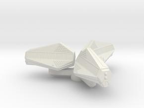 Omni Scale Tholian Arachnid Gunboat Pinwheel SRZ in White Natural Versatile Plastic