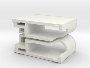 Gauge 3 Neilson Footplate tank in White Natural Versatile Plastic