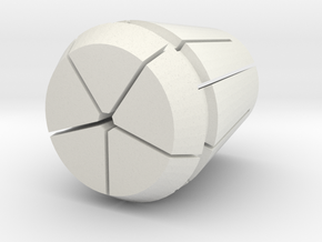Collet-w-pen.125 in White Natural Versatile Plastic