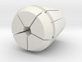 Collet-w-pen.25 in White Natural Versatile Plastic