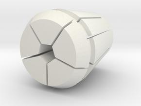 Collet-w-pen.28125 in White Natural Versatile Plastic