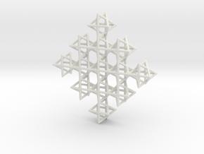 A Merkaba Field in White Natural Versatile Plastic
