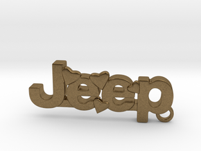 Jeep Keychain in Natural Bronze