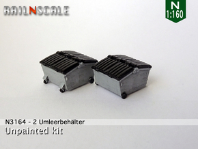 2 Umleerbehälter (N 1:160) in Smooth Fine Detail Plastic