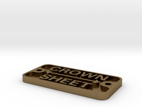 "2.5"" scale Crown Sheet plate in Natural Bronze"