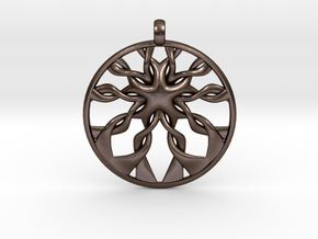 Roots Pendant in Polished Bronze Steel