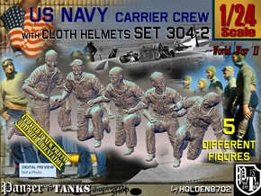 1/24 USN Carrier Deck Crew Set304-2 in White Natural Versatile Plastic
