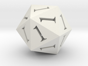 All Ones D20 in White Premium Strong & Flexible