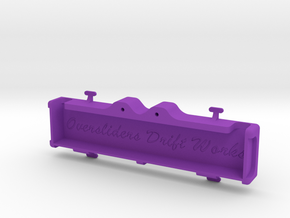 MST FULL REAR TRAY in Purple Processed Versatile Plastic
