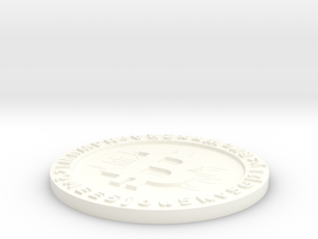 Customizable Printed Bitcoin Wallet in White Processed Versatile Plastic