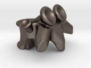 Vertabrae Bead in Stainless Steel: Medium