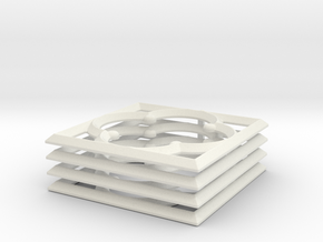 Quatrefoil 28mm MDF Building Accessory in White Natural Versatile Plastic