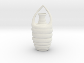 Vase B021908 in White Natural Versatile Plastic