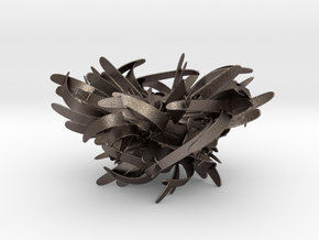 The Nest in Polished Bronzed Silver Steel: Large