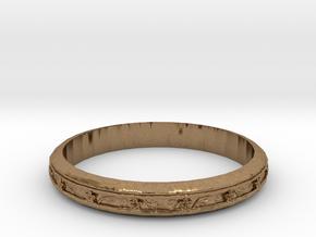 Cherry Blossom Bracelet in Natural Brass: Medium