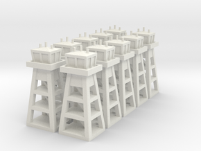 Air Base Tower x10 in White Natural Versatile Plastic