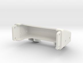 Tamiya Semi Truck Tapered Frame End - Type B in White Natural Versatile Plastic