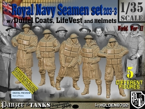 1/35 Royal Navy D-Coat+Lifevst Set203-3 in Smooth Fine Detail Plastic