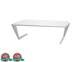 Miniature Table N7 - Casamania in White Natural Versatile Plastic: 1:24