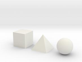Solids 2cm (0.79in) in White Natural Versatile Plastic
