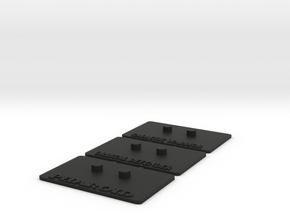 Outstanding Stands 3-Pack in Black Natural Versatile Plastic