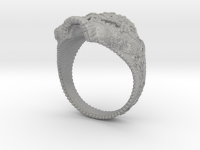 Filigree Skull Ring in Aluminum: 6 / 51.5