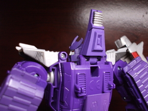 Back Spike Thruster for TR Galvatron in Smooth Fine Detail Plastic