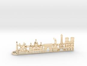Tie Clip Paris in 14k Gold Plated Brass