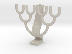 Binary Tree Menorah in Natural Sandstone