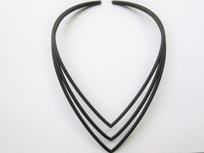 Modern V Necklace in Black Natural Versatile Plastic