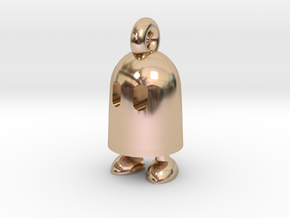 Obb keychain in 14k Rose Gold Plated Brass
