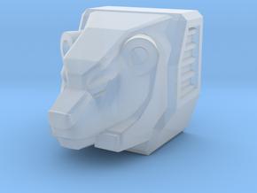 Bear Head for Shuffler/Ramhorn in Smooth Fine Detail Plastic
