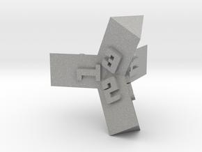 Brutalist Dice Set — Version 1 Singles in Aluminum: d4
