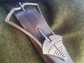 Gondor Ithilien Ranger Quiver Buckle  in Polished Bronze Steel