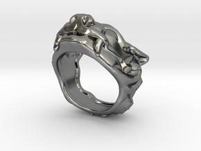 """Fu Dog (Komainu) """"um"""" Ring in Polished Silver: 7 / 54"""