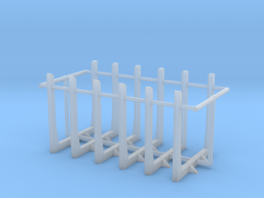 1/160 N Scale Log bunks for flatbed or frames in Smoothest Fine Detail Plastic