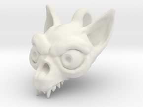 Bat Skull in White Natural Versatile Plastic
